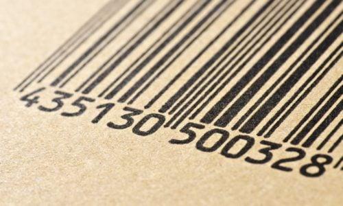 Bar,Code,Printed,On,A,Cardboard,Box,,Making,Macro